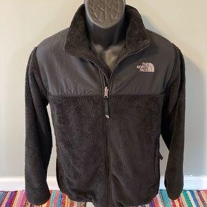 The North Face Denali Jacket Black Zipper Up Large